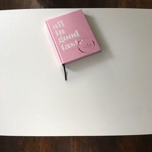 Kate Spade Coffee Table Book 'All in Good Taste'